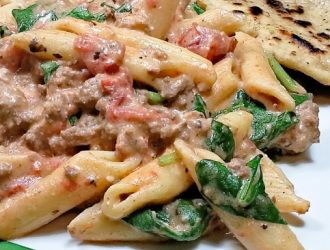 low sodium penne and beef