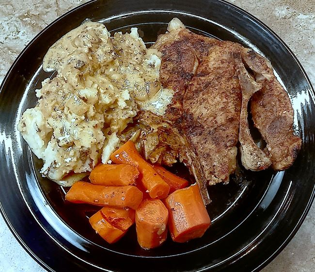one pot low sodium pork chop meal instant pot