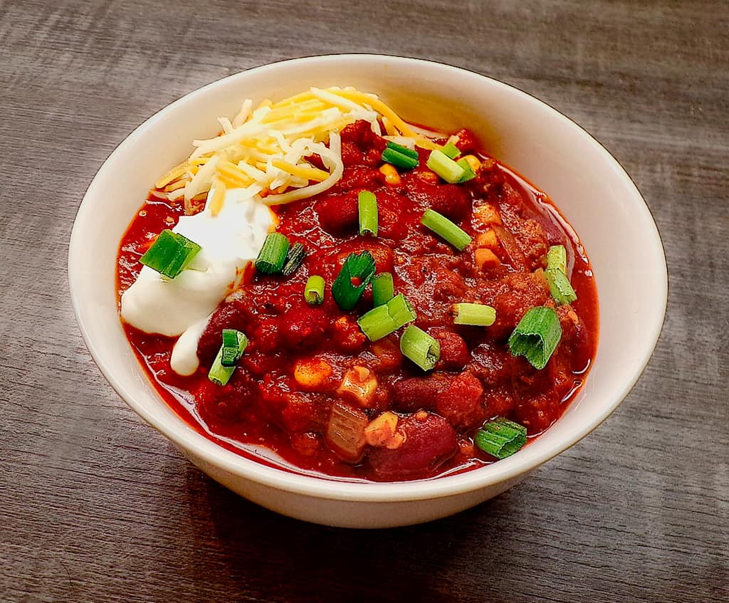 Chili chives sour cream and cheese