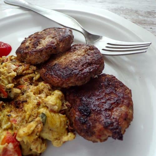 Savory Italian sausage and eggs