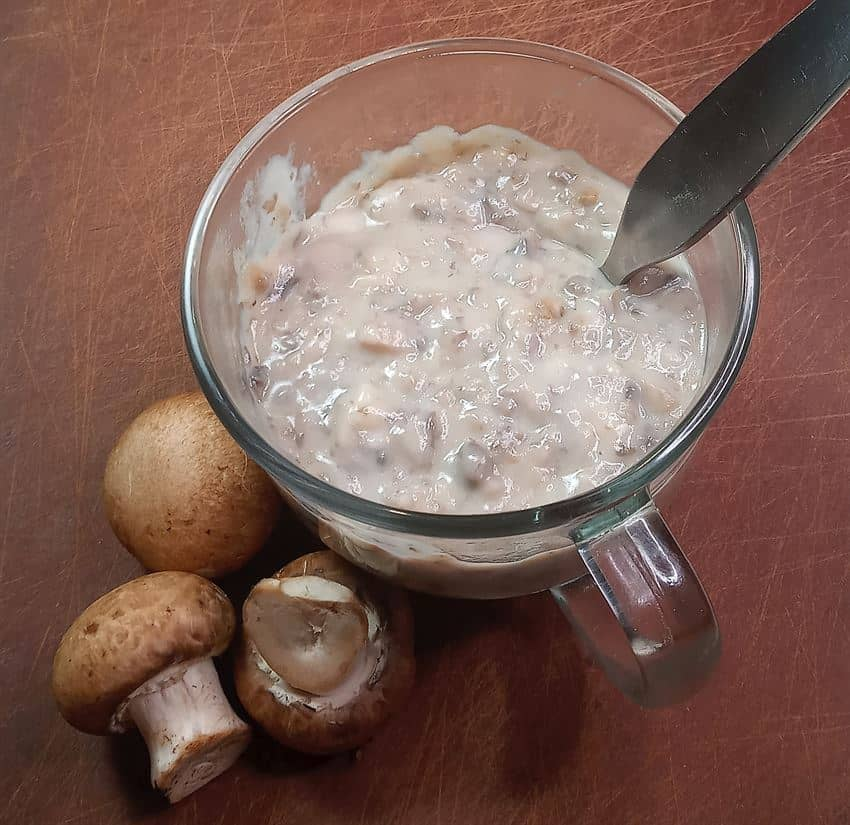 Low sodium condensed cream of mushroom