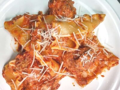 Low Sodium Meatball Lasagna