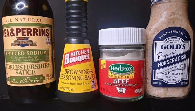 Some ingredients for pot roast