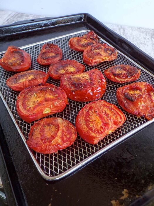 Fresh from oven roasted tomatoes